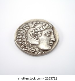 Alexander The Great Head in Coin