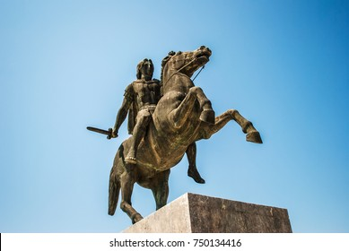 Alexander the Great Statue. Thessalonik, Greece