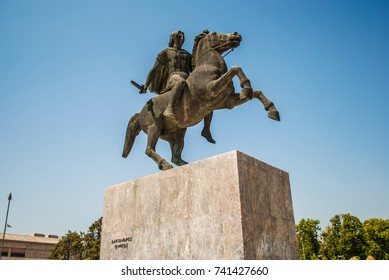Alexander the Great Statue. Thessaloniki, Greece