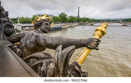 At Alexander III bridge in Paris