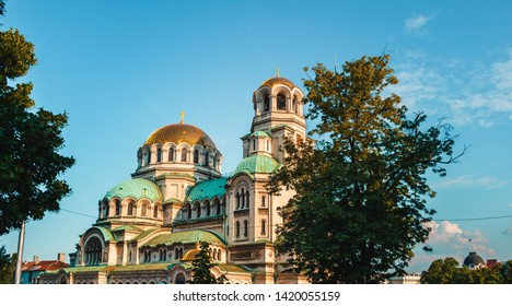 alexander nevsky cathedral famous landmark in sofia bulgaria