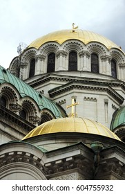 Alexander Nevsky Cathedral Sofia Bulgaria Europe gold dome detail architectural detail