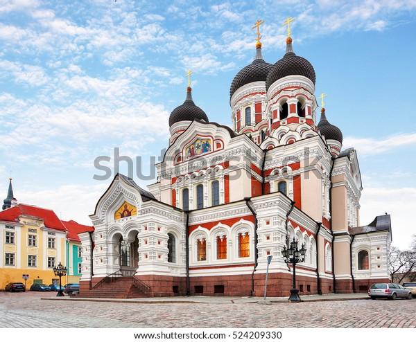 Alexander Nevsky Cathedral in Tallinn Old Town, Estonia