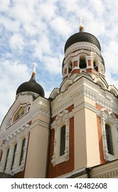 Alexander Nevsky Cathedral in Tallinn.Baltic Countries.Fragment