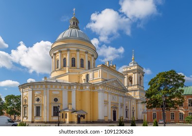 Alexander Nevsky Lavra (Monastery) in Saint Petersburg, Russia. Holy Trinity Cathedral