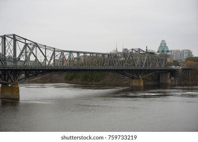 The Alexandra Bridge Cantilever bridge in Ottawa, Canada