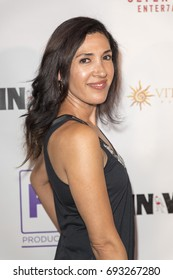Alexandra Castro attends  In Vino - Premiere at The Writers Guild Theater on July 27th 2017 in Beverly Hills, California