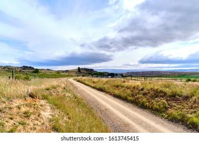 Alexandra, New Zealand - December 29 2019: Otago Central Rail Trail Curving Trail Landscape - Shutterstock ID 1613745415
