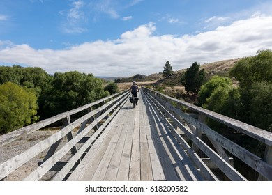 ALEXANDRA, NEW ZEALAND - FEBRUARY 21, 2016: Manuherikia Bridge on the outskirts of Alexandra.