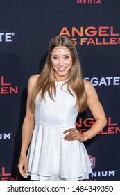 "Alexandra Vino attends Lionstage's ""Angel Has Fallen"" Los Angeles Premiere at Regency Village Theatre, Westwood, CA on August 20 2019"