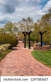 The Alexandria African American Heritage Park, in Alexandria, Virginia