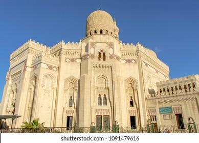 Alexandria, Egypt, 21 February 2018: Abu al-Abbas al-Mursi Mosque