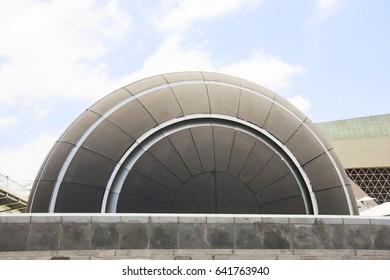 ALEXANDRIA, EGYPT - 25 JUNE 2015: Planetarium in library of Alexandria, one of the famous library in the world. Julius Caesar period.