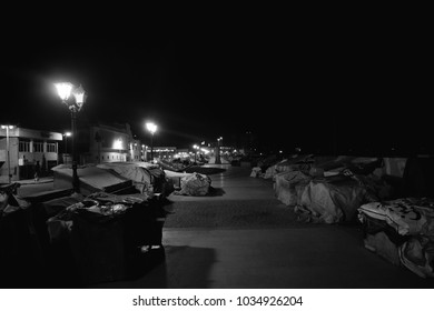 Alexandria, EGYPT - August 04, 2017: nightscape to the streets in the city