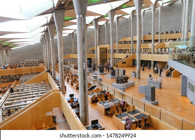 ALEXANDRIA, EGYPT - MARCH 29, 2019: Library of Alexandria in Alexandria City