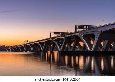 Alexandria, VA / USA - March 11, 2018: Woodrow Wilson Bridge