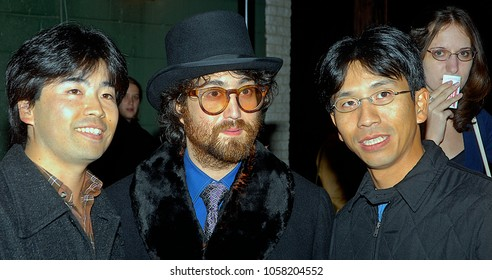 Alexandria Virginia, USA, December 17, 2006 Sean Lennon greets fans and poses for pictures and signs autographs outside the Birchmere Theatre after performing there with his band.