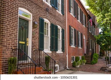 ALEXANDRIA, VIRGINIA, USA - MAY 12, 2009: Historic row houses on North Royal Street.