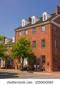 ALEXANDRIA, VIRGINIA, USA - MAY 12, 2009: Gadsby's Tavern on North Royal Street in Old Town.