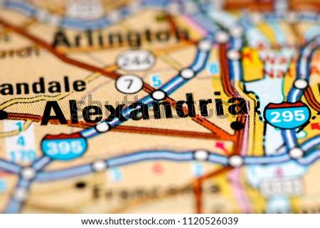 Alexandria Virginia USA On Map Stock Photo (Edit Now) 1120526039 ...