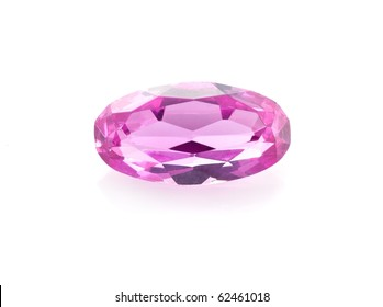 Alexandrite on the white background
