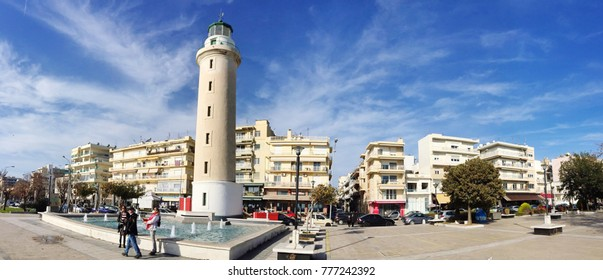 ALEXANDROUPOLIS, GREECE - DECEMBER 13: Lighthouse that is  landmark of Alexandroupolis city in Eastmacedonia in Evros area, Greece.