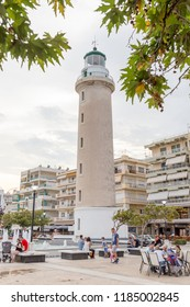 ALEXANDROUPOLIS, GREECE - JULY 9: Lighthouse that is landmark of Alexandroupolis city in Eastmacedonia in Evros area, Greece.