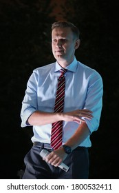Alexey Navalny at a rally in Yekaterinburg on September 16, 2017