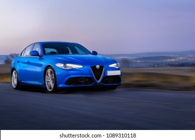 Alfa Romeo Giulia in motion
