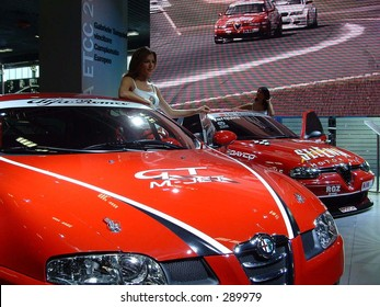 Alfa Romeo GT and 156 Cup at Motorshow Bologna 2003