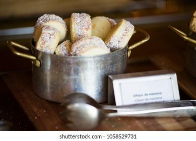 """Alfajores de maicena"": traditional argentinian cookies"