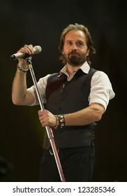 Alfie Boe on stage at The 2012 BBC Proms in the Park, Hype Park, London. 08/09/2012