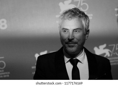 Alfonso Cuaron poses with the Golden Lion for Best Film Award for 'Roma' at the Winners Photocall during the 75th Venice Film Festival at Sala Grande on September 8, 2018 in Venice, Italy.