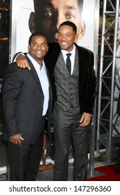 """Alfonso Ribeiro & Will Smith arriving at the Premiere of """"Seven Pounds"""" at the Mann's Village Theater in Westwood, CA on December 15, 2008"""