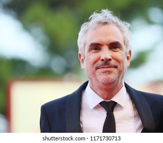 Alfonso Cuarón walks the red carpet ahead of the 'Roma' screening during the 75th Venice Film Festival at Sala Grande on August 30, 2018 in Venice, Italy.