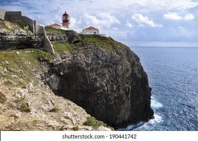 Algarve, Cape St Vincent: the lighthouse in Portugal.