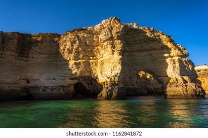 Algarve Seashore and Caves. Exposure done in a boat tour in the Lagoa seashore, Algarve, Portugal