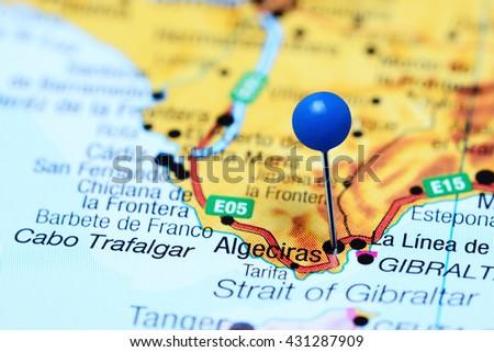 Algeciras Pinned On Map Spain Stock Photo (Edit Now) 431287909 ...