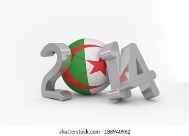 Algeria 2014 white background
