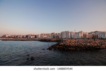 Algeria, Algiers - August 18 2019 : view on bab el oued city at the capital of algiers, one of the old colonial cities in algeria