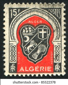 ALGERIA - CIRCA 1946: stamp printed by Algeria, shows arms, circa 1946.