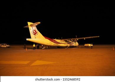 Algeria city / Algeria - 01 Nov 2014: The plane of Air Algeria in the airport in Algeria city