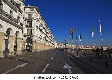 Algeria city / Algeria - 01 Nov 2014: The seafront, Boulevard Ernesto Che Guevara in Algeria city, Algeria