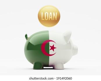 Algeria High Resolution Loan Concept