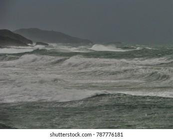 Alghero city during a storm