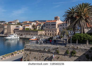 Alghero. Italy. 04.23.17. The port of Alghero in the province of Sassari on the northwest coast of the island of Sardinia, Italy.