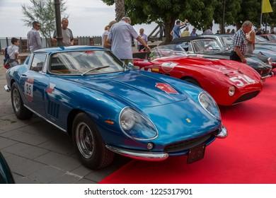 Alghero, Italy - 19 September 2018: Ferrari show on the boulevard of Alghero