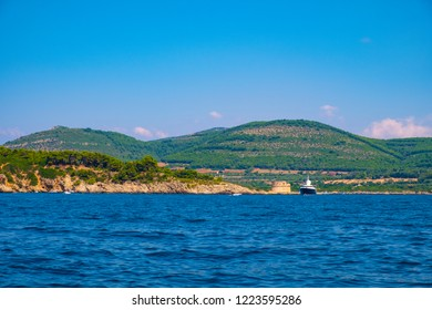 Alghero, Sardegna, Italy - Panoramic view of the Gulf of Alghero and the Porto Conte Regional Park landscapes