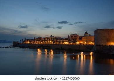 Alghero sunset blue hours