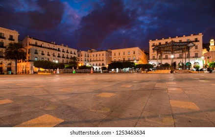 Algiers , Algeria - December 06, 2018 : Martyrs' Square at night , in the capital and largest city of Algeria.